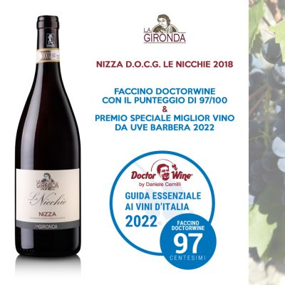 Awarded by the Essential Guide to Italian Wines 2022 by Doctor Wine by Daniele Cernilli